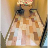 はがせる壁紙 DWP-07 でトイレの床を貼る